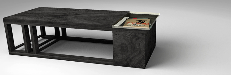Metric Coffee Table Design by SIDD Fine Woodworking